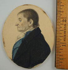 Portrait Miniature profile folk American? c1820