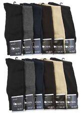 12 Pairs Mens Plain Dress Socks Comfort Focus #5F Multi Colors Solid Size 10-13