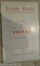 1935 Theatre Programme: FRITZI - Leslie French Betty Frankiss Bruce Winston