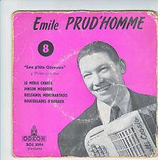 """Emile PRUD'HOMME N° 8 Vinyle 45T 7"""" EP LES P'TITS OISEAUX 4 POLKAS Musette RARE"""
