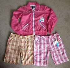 Paul Frank Pink Rose Color Jacket & Two Shorts LOT NEW Size 12 Girls