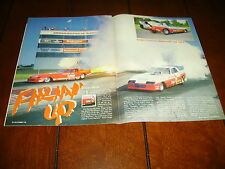 JET RACE CAR ROGER GUSTIN  ***ORIGINAL 1986 ARTICLE***