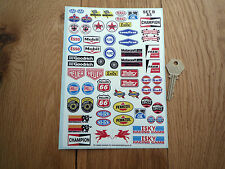 MODEL Racing Car RC STICKERS B A5 Garage Slot Diorama Small Scale Miniature Race