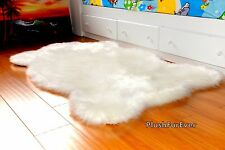 Sheepskin Faux Fur Rugs Bearskins Throw Carpeting Shag Handmade Furry Rugs Decor