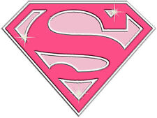 ✿✿✿CHOOSE A SUPER GIRL IRON ON TRANSFERS PINK FANCY DRESS SUPER HERO ✿✿