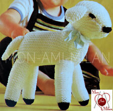 "Knitting Pattern CUTE EASTER SPRING LAMB SOFT TOY NURSERY EASY KNIT 10"" DK - PDF"