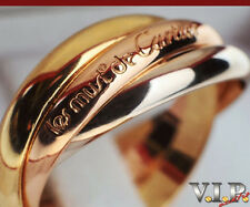 Cartier Trinity bague anillo Anillo de mujer talla 51 goldring 18k/750er tricolor Gold + + Box