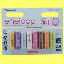 8x Panasonic eneloop 2000mAh Color AA Cell Rechargeable Battery Limited Edition