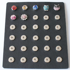 SNAP 18mm Storage Organizer Mat Holds 30 Button Jewelry 18mm Fits Ginger Snaps