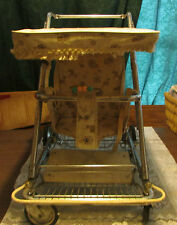 RARE vintage retro baby/child stroller/walker metal Hartford textile corp. 1959