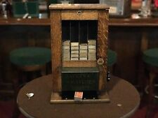 "1915 Albert Pick & Co. 1 Cent Coin Operated Match Box Vendor ""WATCH VIDEO"""