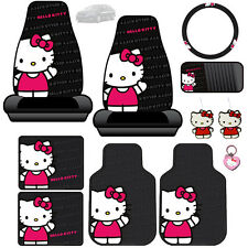 New Hello Kitty Core Car Seat Covers Floor Mats Accessories Set For Kia