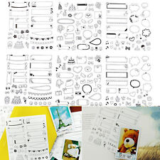 Cute Lovely 6 Sheet Paper Stickers for Scrapbook Calendar Photo Decor