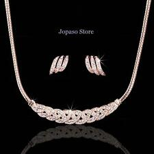 18K Gold Plated Crystal Swarovski Elements Wedding Engagement Jewellery Set S003