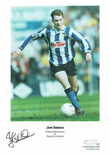 John SHERIDAN Signed Autograph Ltd Edition Print Sheffield Wednesday AFTAL COA