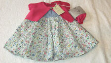 Next 6-9 months FLORAL DRESS CARDIGAN & TIGHTS SET *BNWT* New Girls Outfit