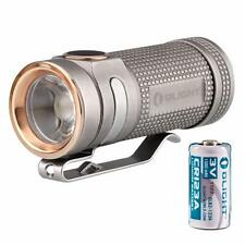 Olight S Mini Baton TI 550 Lumen Titanium LED Flashlight - Bead Blast S1 Upgrade