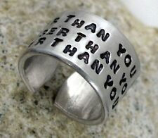 Winnie the Pooh Inspired Hand Stamped Ring - Braver Than You Believe...