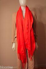 "Ann Taylor 100% Cashmere Orange Pink Scarf Shawl 21"" x 80"""