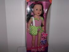 """My Life as a Beach Vacationer 18"""" Brunette Doll New"""