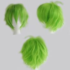 UPS Ship Anime Cosplay Full Wig Lady Fashion Green Costume Wigs Curly Hair Tail