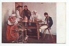 RUSSIE Russia Théme Types russes costumes personnages femme fileuse pays d'est