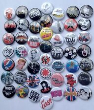 80s 90s Mixed button lot. (50 pcs)  retro rock grunge punk