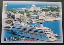 mv Aida . Cruise Line CruiseShip Boat Ocean Liner Old San Juan Puerto Rico V116