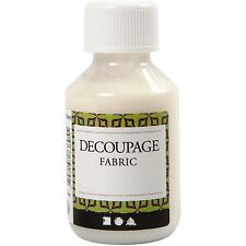 Decoupage Fabric Lacquer Sealing Glue 100ml Napkins Material Craft Iron On Make