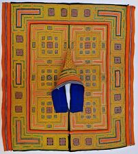 Late 20th Century Miao/Hmong/Chinese Silk Embroidered Cape/Poncho