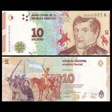 Argentina 10 Pesos, ND(2016), P-NEW, A-series, New Design, UNC