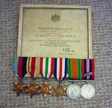 GREAT BRITAIN - WW2 'NORMANDY' MENTION IN DESPATCHES MEDAL GROUP - W.O.1 (R.S.M)