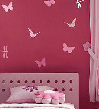 Butterfly and Dragonfly Stencil Kit - 4-Piece - Fun Stencils for DIY Home Decor