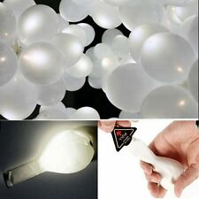 50pcs LED Balloons Light Up Birthday Wedding Party Decoration White Romance