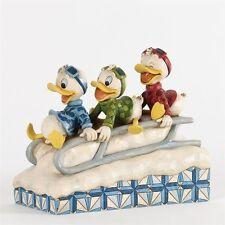 Disney Traditions Huey, Dewey & Louie Sledding #4033270 NIB - Jim Shore