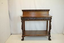 American Console Server Dumb Waiter Buffet Sideborad Table with Full Drawer 19th