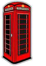 "London Red Phone Booth Telephone Car Bumper Window Locker Sticker Decal 3""X6"""