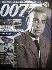 FASCICULE 48 JAMES BOND / POSTER  LINCOLN CONTINENTAL  / GOLDFINGER