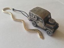 Land Rover Series 2 Light Weigh ref113  FULL CAR on a CURVED bookmark with cord