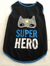 NEW - PUPPY DOG SUPER HERO VEST TEE SHIRT - MEDIUM BREED