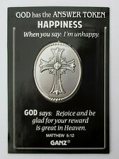 f HAPPINESS I'm unhappy reward in heaven God Answer POCKET TOKEN COIN CHARM ganz