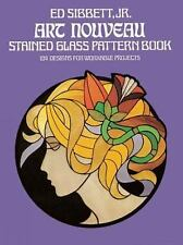 NEW ART NOUVEAU STAINED GLASS PATTERN BOOK - ADULT COLORING BOOK