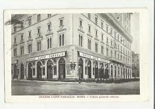 90414 ANTICA CARTOLINA DI ROMA GRANDE CAFFE' FARAGLIA