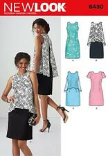 NEW LOOK SEWING PATTERN MISSES' DRESS IN 2 LENGHTS SIZE 10 - 22 6430