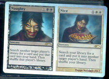 MAGIC  1 CARTE PROMO FOIL HAPPY HOLLIDAYS 2012 NAUGHTY/ NICE