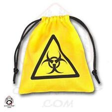 Q-Workshop Yellow Colour Biohazard Dice Bag QWS BBIO103