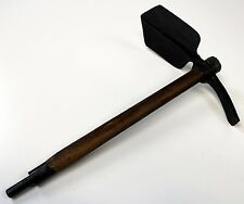 2) GENUINE WW2 BRITISH ARMY 37 PATTERN SHOVEL / PICK ENTRENCHING TOOL DATED 1945