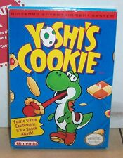 Vintage Nintendo YOSHI'S COOKIE Video Game NES Complete CIB VHTF Rare