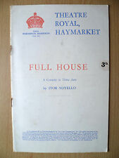 THEATRE ROYAL, HAYMARKET Programme 1940- FULL HOUSE by Ivor Novello