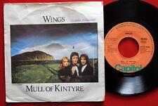 """WINGS MULL OF KINTYRE/GIRLS SCHOOL 1977  BEATLES MCCARTNEY EXYUGO 7"""" PS"""